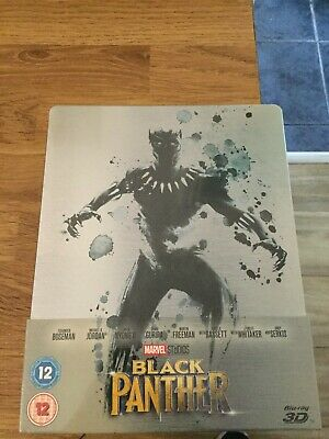 Marvel Studios Black Panther Limited Edition 3D Blu Ray Steelbook(New/Sealed)