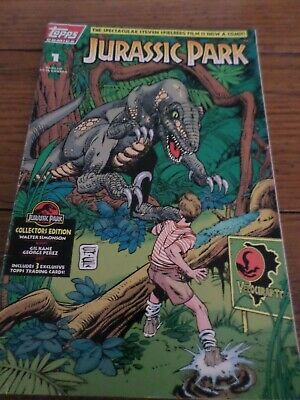 Topps Comics #1 of 4, JURASSIC PARK, June 1993.  Great comic book and movie!