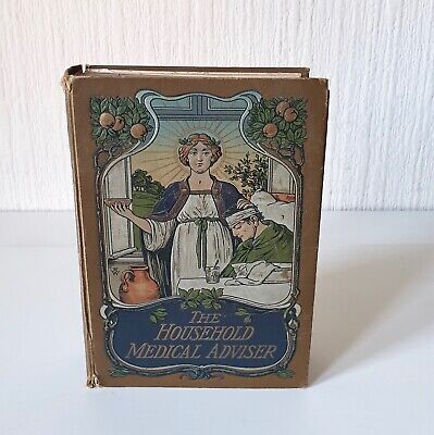 Antique Early 20Th Century 'The Household Medical Advisor' Rare Book
