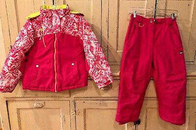 Girls Winter Snow Pacific Trail Jacket 32 Degrees Pants Pink Outfit Size S 7-8
