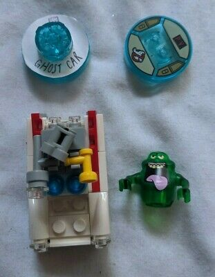 Lego Dimensions Level Pack Disc and Minifigure Lot - Ghostbusters Slimer Ecto 1