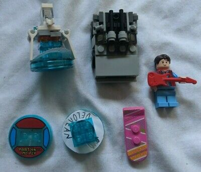 Lego Dimensions Level Pack Disc + Minifigure Lot Back to the Future Marty McFly