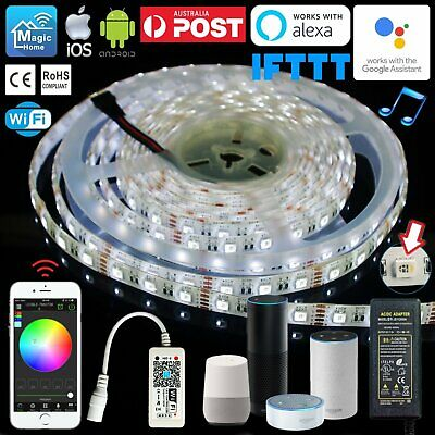 1M-10M 4 in 1 RGBW LED Light Strip Smart Wifi Controller Alexa Google Assistant