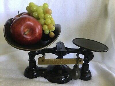 Antique Fairbanks Cast Iron Countertop Scale with Tray Number 3