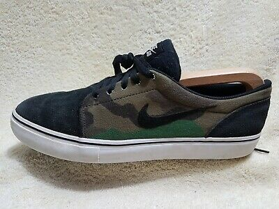 Nike Sb Satire Mens Street Trainers Leather Black Camouflage White