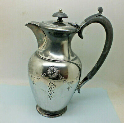 Vintage Silver Plated Hot Water Jug  / Pot 1.5 pint Floral engraving F C & co