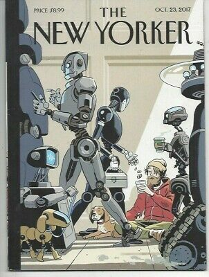 The New Yorker magazine ~ October 23 2017 ~ Ronan Farrow~  Kikuo  cover ~ dog