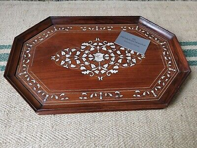 A Inlaid Mysore Indian Rosewood Tray