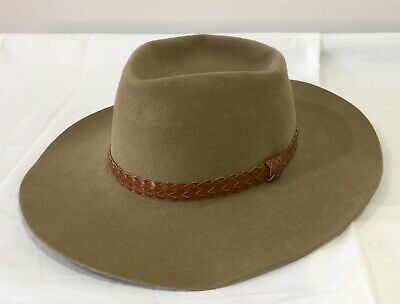 Genuine Akubra Snowy River Hat Size 54 Children's Kid's Fur Felt Australia