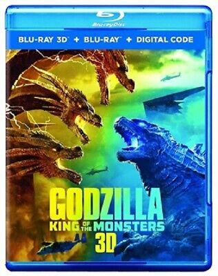Godzilla: King of the Monsters 3D 07/19 3D (used) Blu-ray Only Disc Please Read