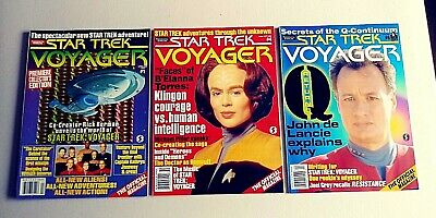 Star Trek Voyager The Official Magazine  Published By Starlog Lot Of 3