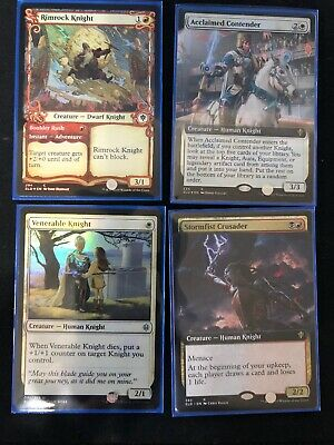 MTG Throne Of Eldraine Knights Bundle Extended Foil Mint Acclaimed Contender