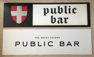 Vintage Display Signs From The Savoy Tavern Hotel Melbourne Spencer Street