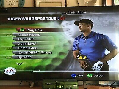 "Xbox debug kit playable  """" Tiger Wood PGA Tour 07 """" Games Console collectable"
