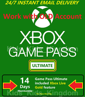 Xbox Game Pass Ultimate 14 Days - Xbox Live Gold + Game pass, Instant Delivery