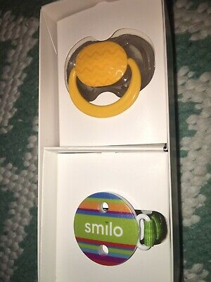 Smilo Baby Pacifier And Clip Brand New In Box Unisex