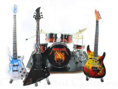Mini Guitars + Drum Kit METALLICA FULL BAND SET with stage #2