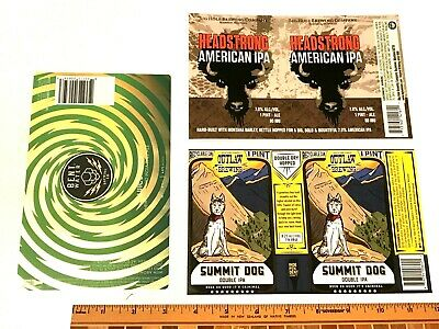 (12) MICRO CRAFT BEER LABELS sticker Star Point, Outlaw, Big Hole, Bent Water