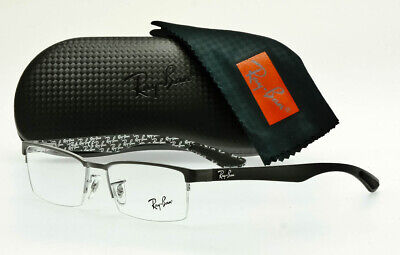 Details about New RAY BAN Rx able Eyeglasses RB 6355 2503 50 20 145 Matte Black Frames wClear