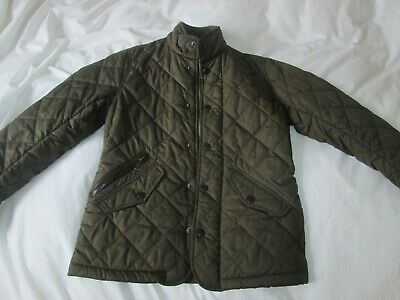 Green Barbour children coat Size M -8 ,9 years old