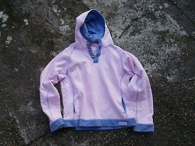 Original Crew Ladies Pink With Blue Stitching Toggle Hooded Jacket Uk Size 14