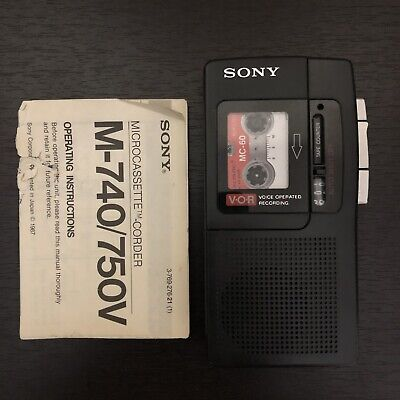 Sony Microcassette Recorder M-740 Handheld Tape Player Clear Voice Plus Tested