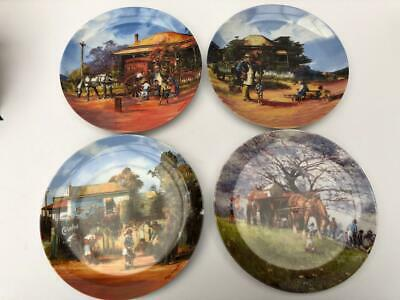 Collectors Plate Set 'Bygone Traders' by d'Arcy W Doyle featuring Four Plates