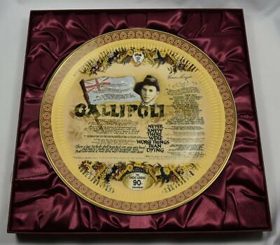 "Collectors Plate Large - ""Gallipoli"" The Anzac Legend"