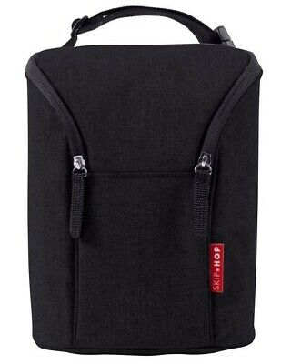 Skip Hop Insulated Double Bottle Bag, Black
