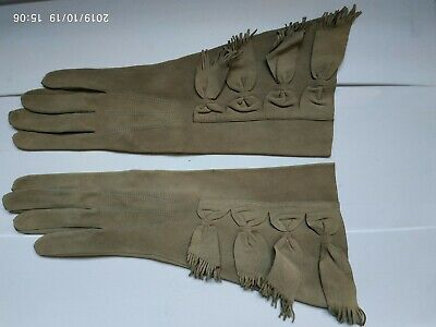 vintage 1950s Chamois Leather womans Gloves