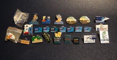 EDF / GDF - Lot / Pack 25 Pin's Collector 1990 - RARE