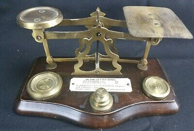 Antique English Postal Scale 5 Weights
