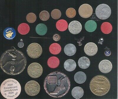 Vintage Junk Drawer Lot Coins Tokens Peso Canadian Dollar Wheat Pennies MORE