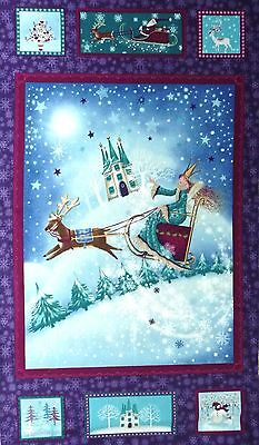 Snow Queen Fabric Panel 100% cotton 2631