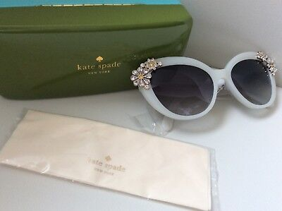kate spade White Jewelled Flower sunglasses - With Matching Case