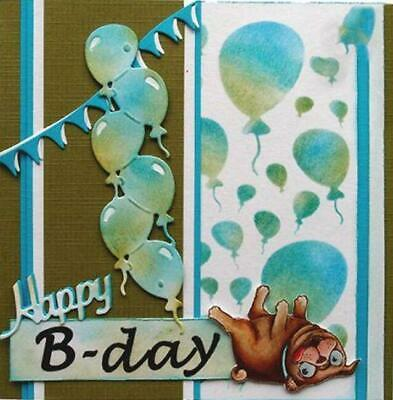 Balloons Die Birthday Metal Cutting Craft Dies Scrapbooking Card Making Stencil