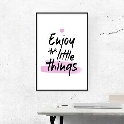 Motivational Quotes Poster - Digital Image Picture - Enjoy The Little Things