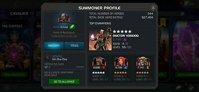 Marvel Contest Of Champions Account With Email, Password