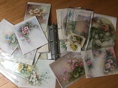 Huge Binder Loaded With Sonie Ames Fine China Art Prints Templates Signed Estate