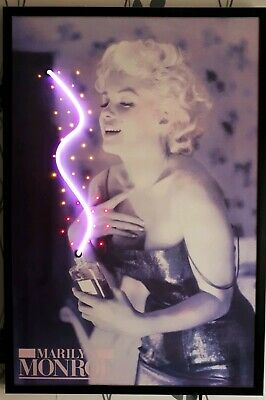 "RARE Marilyn Monroe Coco Chanel LED Light Up  Poster 25"" X 37"" . See Description"