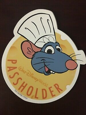 Disney World Chef Remy Ratatouille Passholder Magnet AUTHENTIC Food And Wine