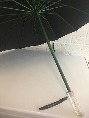 Vintage Mid Century Modern Umbrella With Lucite Handle