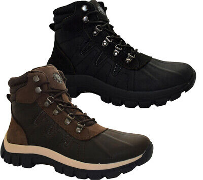 Mens Winter Snow Boots Thermal Warm Lined Hiking Walking Trainers Ankle Shoes Sz