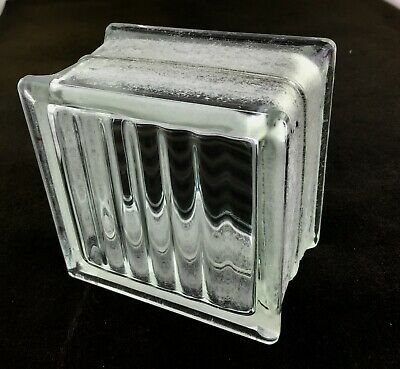 Reclaimed Vintage Architectural Glass Building Block -- Very Nice Pattern!