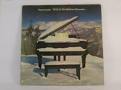 SUPERTRAMP, EVEN IN THE QUIETEST MOMENTS, G/VG, 7 Track, LP, Picture Sleeve, A&M