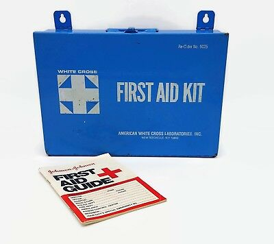 American White Cross Laboratories First Aid Empty Kit And First Aid Guide