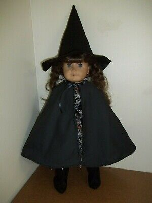 "18"" Doll Clothes WITCH COSTUME Dress, Cape, Hat & Booties fits AMERICAN GIRL"