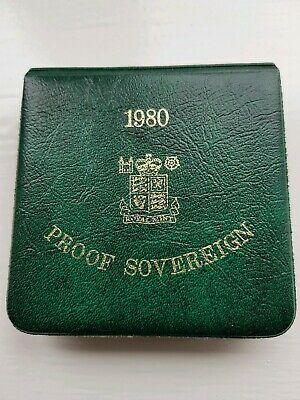 Royal Mint 1980 Proof Sovereign Coin Storage Box Only