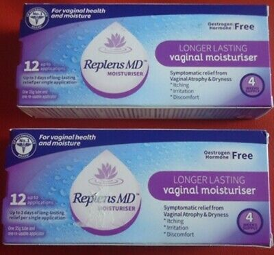 2 x REPLENS MD VAGINAL MOISTURISER - 4 WEEKS SUPPLY PER TUBE