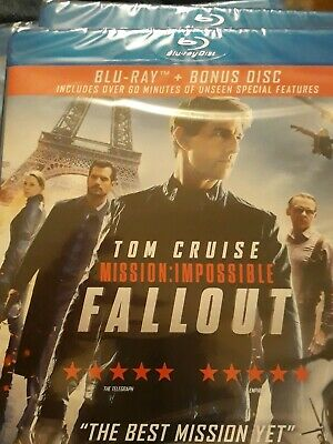 Mission Impossible Fallout Blu Ray - Brand New & Sealed